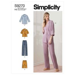 Simplicity Sewing Pattern S9270 Misses' Tops & Pants In Two Lengths