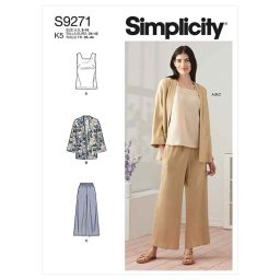 Simplicity Sewing Pattern S9271 Misses' Jacket, Top & Pants