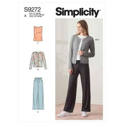 Simplicity Sewing Pattern S9272 Misses' Knit Cardigan Top & Pants