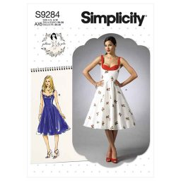 Simplicity Sewing Pattern S9284 Misses' Sweetheart-Neckline Dresses