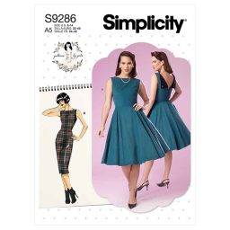 Simplicity Sewing Pattern S9286 Misses' Fold-back Facing Dresses