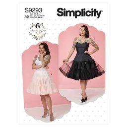 Simplicity Sewing Pattern S9293 Misses' Full Slip & Petticoat
