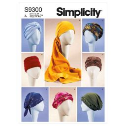Simplicity Sewing Pattern S9300 Misses' Turbans, Headwraps & Hats