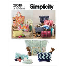 Simplicity Sewing Pattern S9310 Totes & Bags In Assorted Sizes