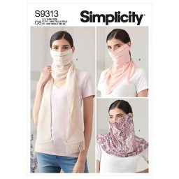 Simplicity Sewing Pattern S9313 Fashion Face Covers