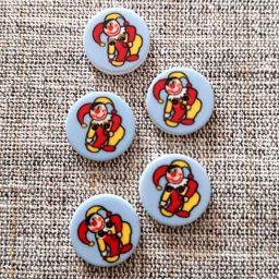 Children's clown buttons (15mm)