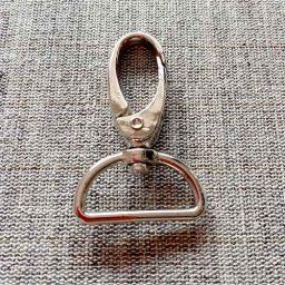 Metal snap hook, nickel (25mm)