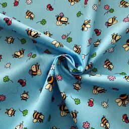 Rose & Hubble 100% cotton poplin print ('Bee & Ladybird')