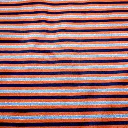 Cotton Spandex Jersey Print ('Seaside Stripes')
