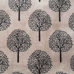 "Polycotton imitation linen, ""Walnut Tree"""