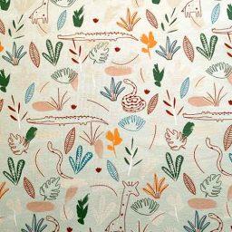 Cotton Spandex Jersey Print ('Zambezi')