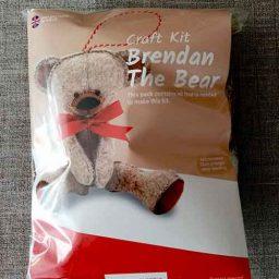 """Brendon Bear"" felt Christmas tree decoration kit"