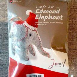 """Edmond Elephant"" felt Christmas tree decoration kit"