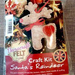 Santa's reindeer felt Christmas tree decoration kit