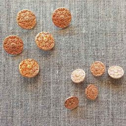 Rose gold filigree buttons (20mm/15mm)
