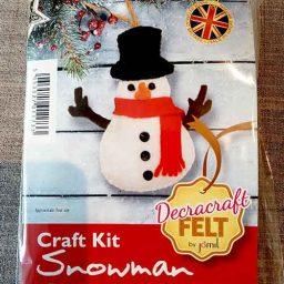 Snowman felt Christmas tree decoration kit